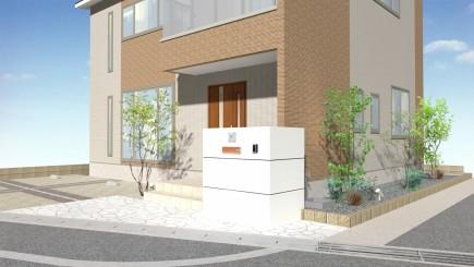 姫路市A様邸新築外構工事イメージパース3