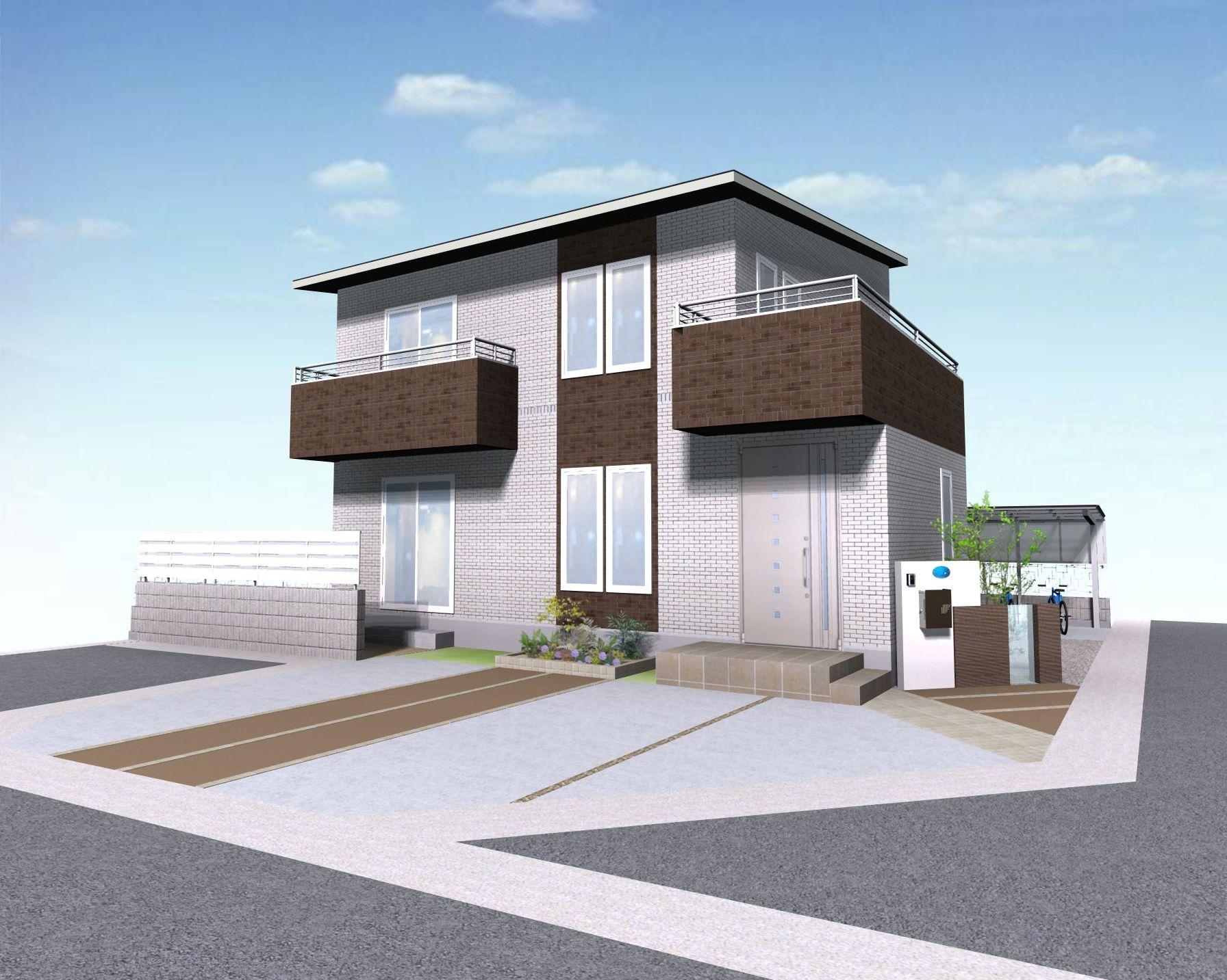 姫路市T様邸エクステリア工事完成イメージパース