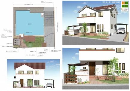 レンガと芝生のナチュラルガーデン 姫路市A様邸計画図面