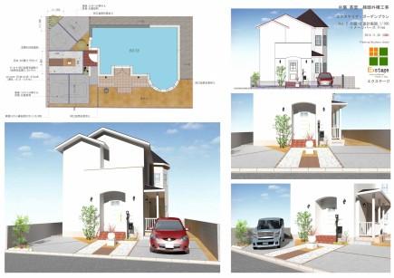 白で統一されたエレガントスタイル 姫路市N様邸計画図